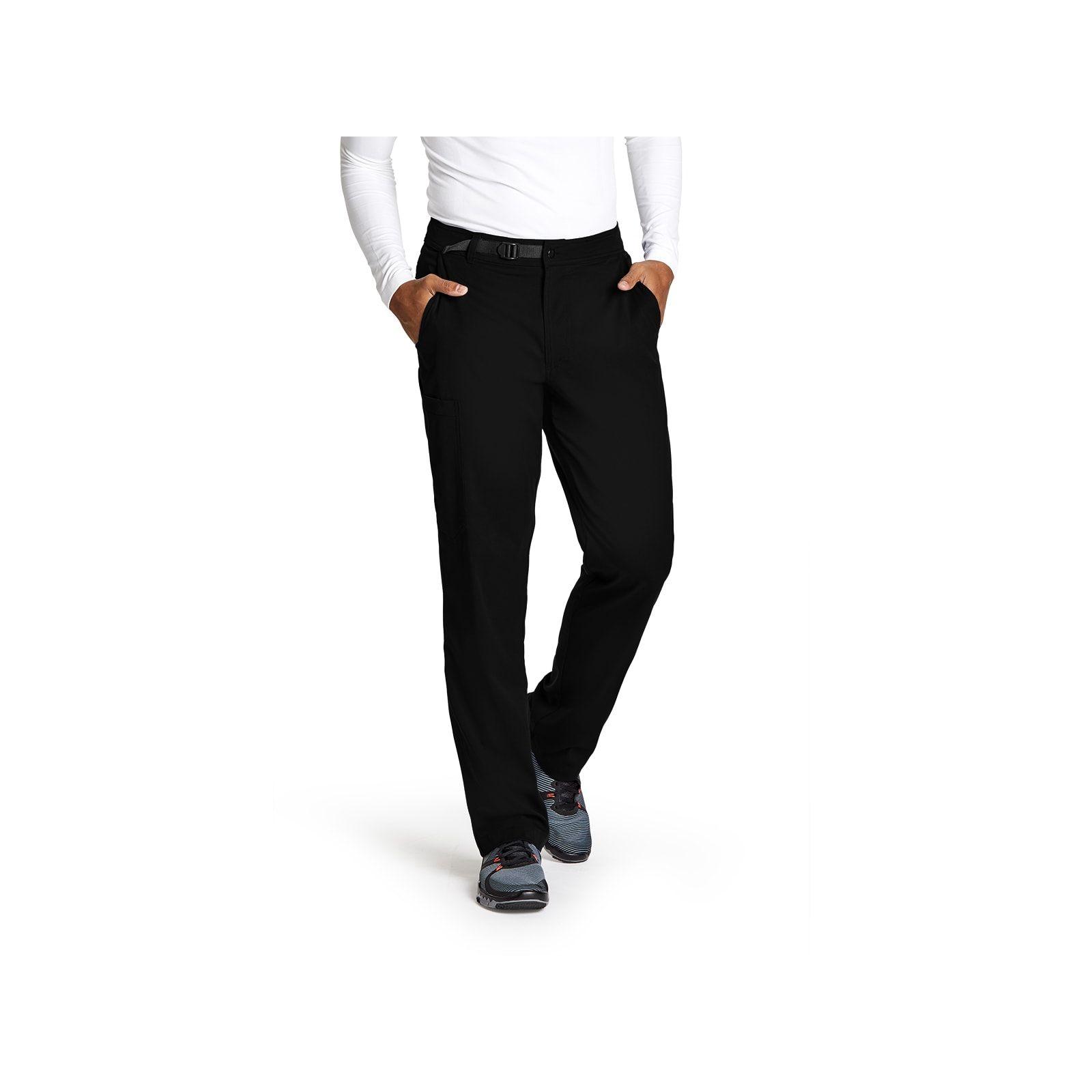 """Pantalon médical homme, couleur noir vue de face, collection """"Grey's Anatomy Stretch"""" (GRSP507-)"""