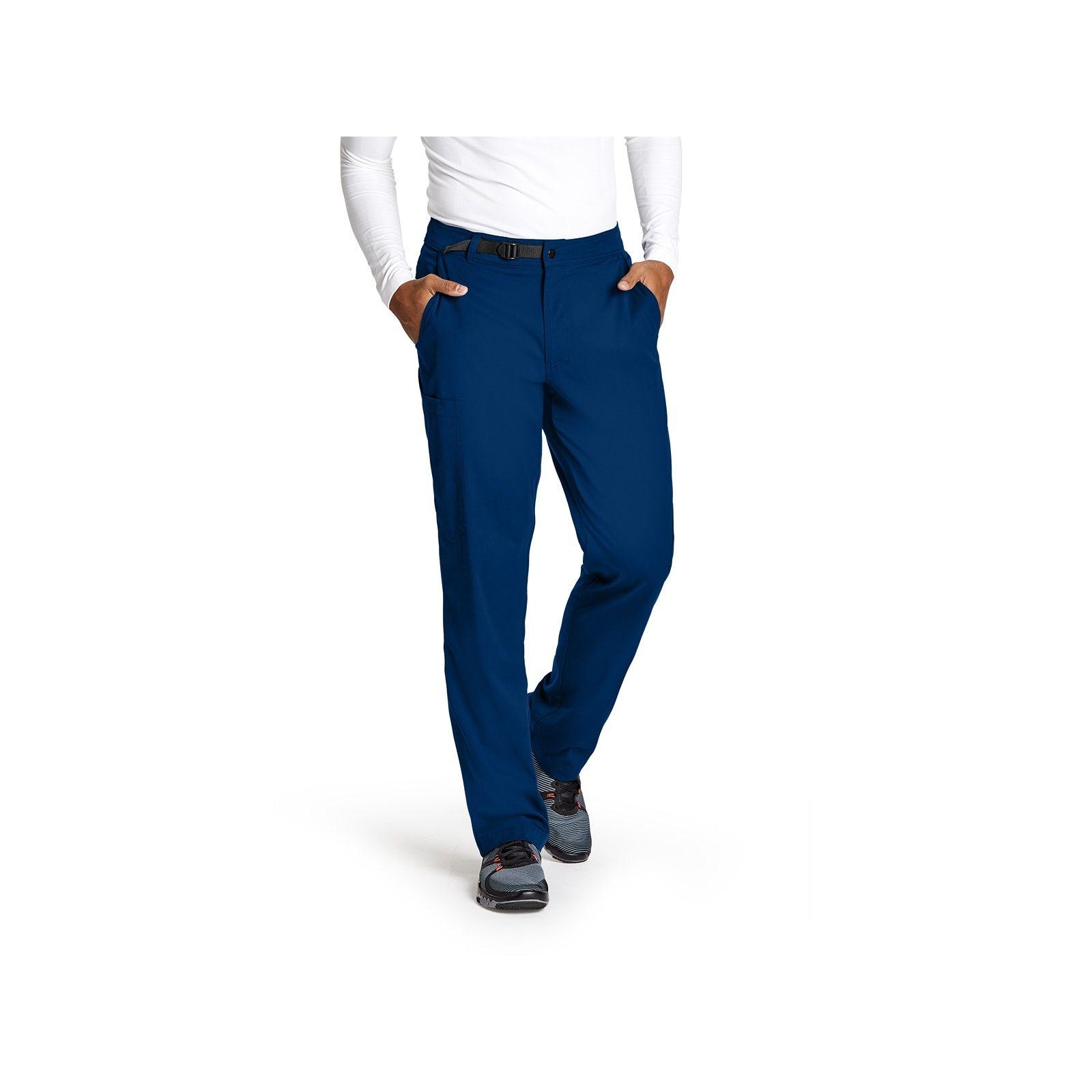 """Pantalon médical homme, couleur bleu marine vue de face, collection """"Grey's Anatomy Stretch"""" (GRSP507-)"""