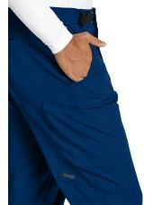 """Pantalon médical homme, couleur bleu marine vue détail, collection """"Grey's Anatomy Stretch"""" (GRSP507-)"""