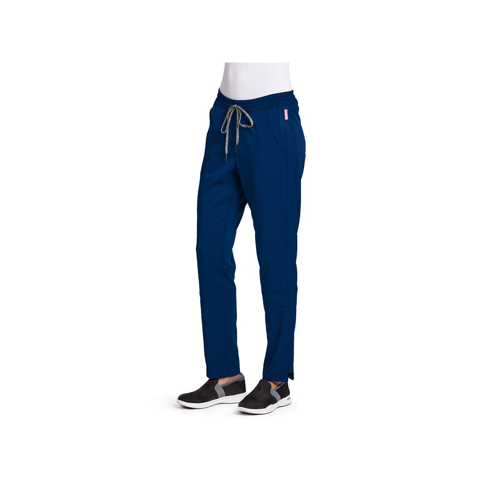 """Pantalon médical femme, couleur bleu marine vue de face, collection """"Grey's Anatomy Stretch"""" (GVSP509-)"""