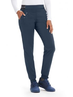 "Pantalon médical femme, couleur gris anthracite vue de face, collection ""Grey's Anatomy Stretch"" (GVSP512-)"