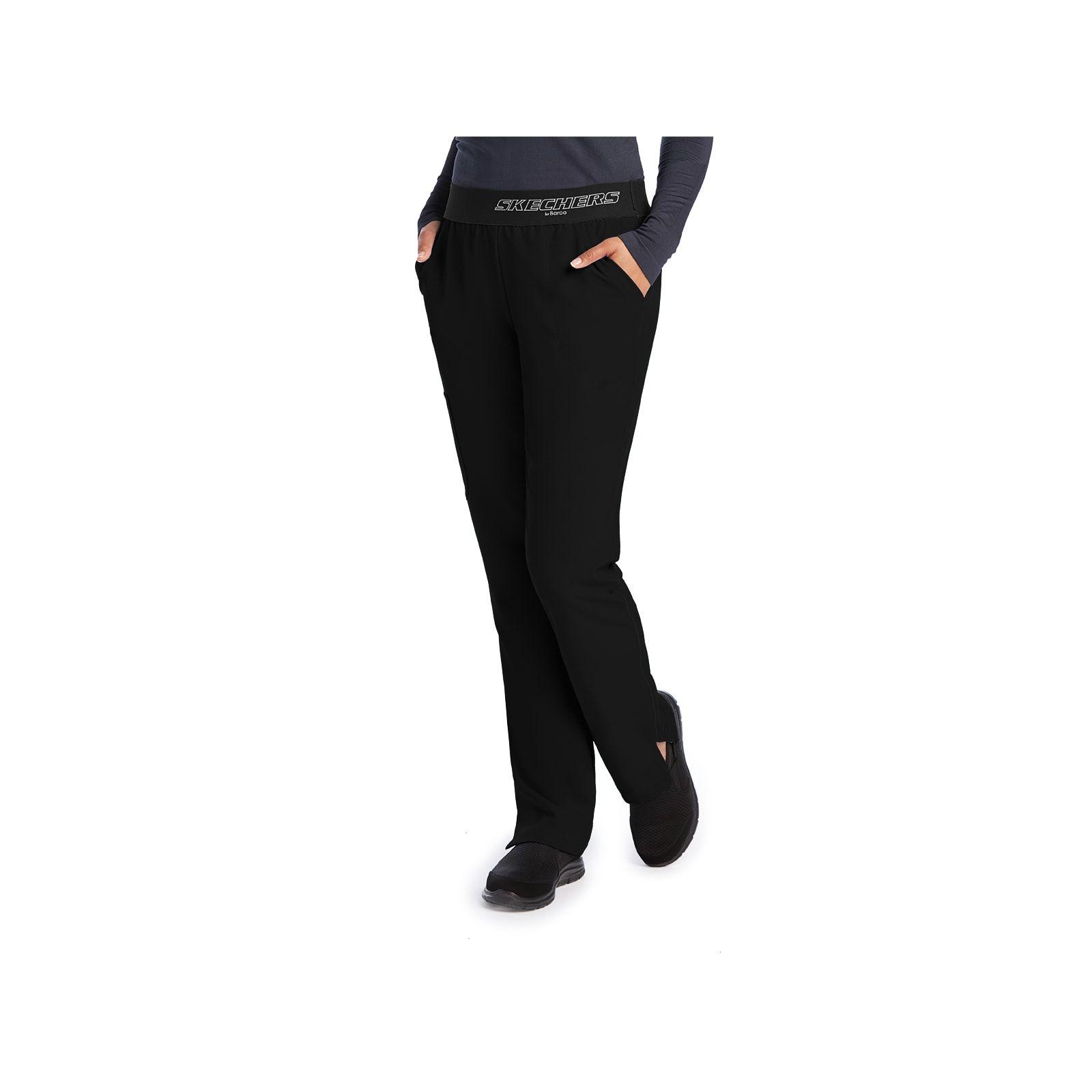 """Pantalon médical femme, couleur noir vue de face, collection """"Skechers"""" (SK202-)"""