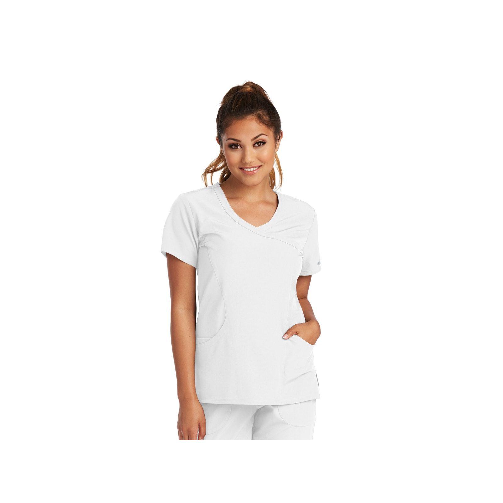 """Blouse médicale femme, couleur blanc vue de face, collection """"Skechers"""" (SK102-)"""