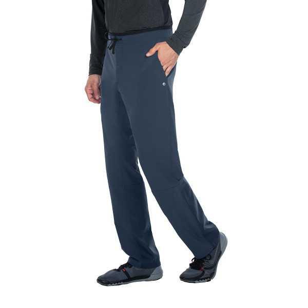 """Pantalon médical homme, couleur gris anthracite vue de côté, collection """"Barco One Wellness"""" (BWP508-)"""