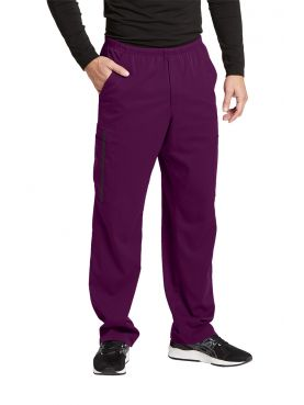 "Pantalon médical homme, couleur bordeaux vue de face, collection ""Grey's Anatomy Impact"", Barco (0219-)"