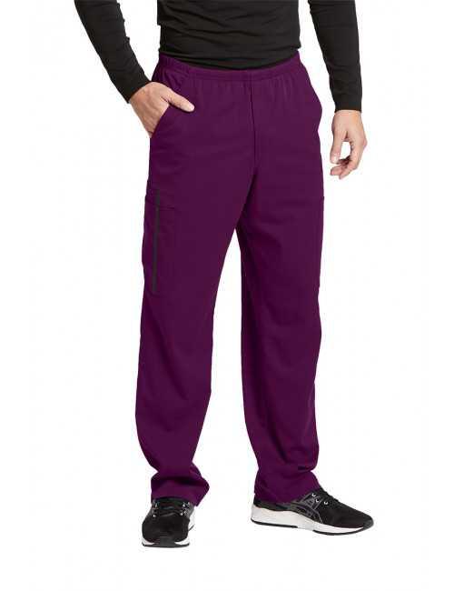 """Pantalon médical homme, couleur bordeaux vue de face, collection """"Grey's Anatomy Impact"""", Barco (0219-)"""