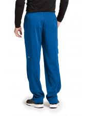 """Pantalon médical homme, couleur bleu royal vue de dos, collection """"Grey's Anatomy Impact"""", Barco (0219-)"""