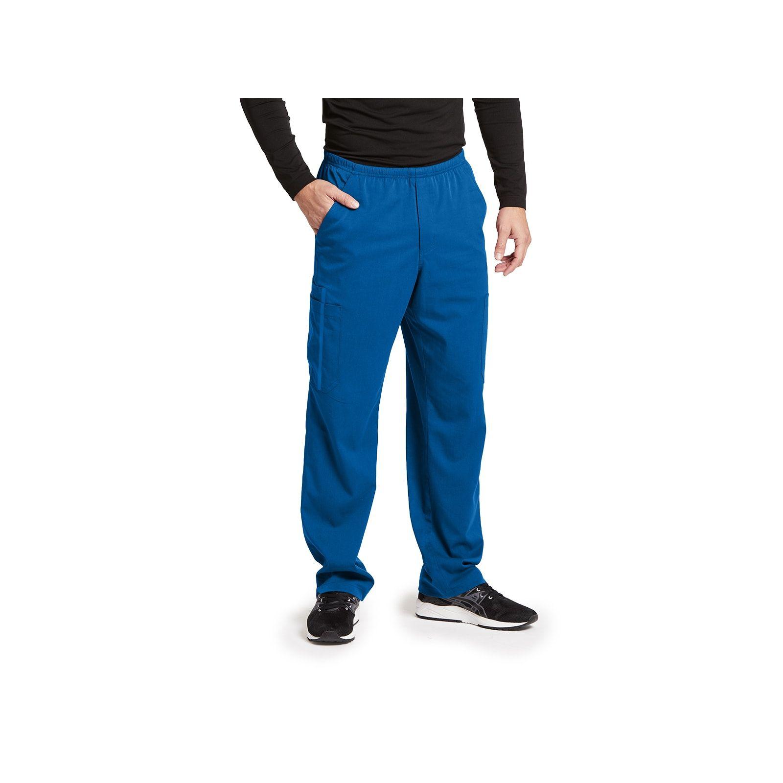 "Pantalon médical homme, couleur bleu royal vue de face, collection ""Grey's Anatomy Impact"", Barco (0219-)"