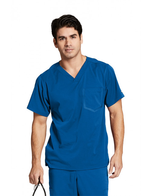"Col V médical homme, couleur bleu royal vue de face, collection ""Grey's Anatomy Impact"", Barco (0118-)"