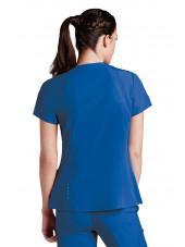 Tunique médicale femme, couleur vert chirurgien vue de dos, Barco One (5105)