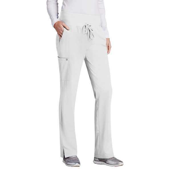 Pantalon médical femme, couleur blanc vue de face, Barco One (5206)