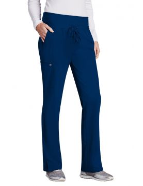 Pantalon médical femme, couleur bleu marine vue de face, Barco One (5206)