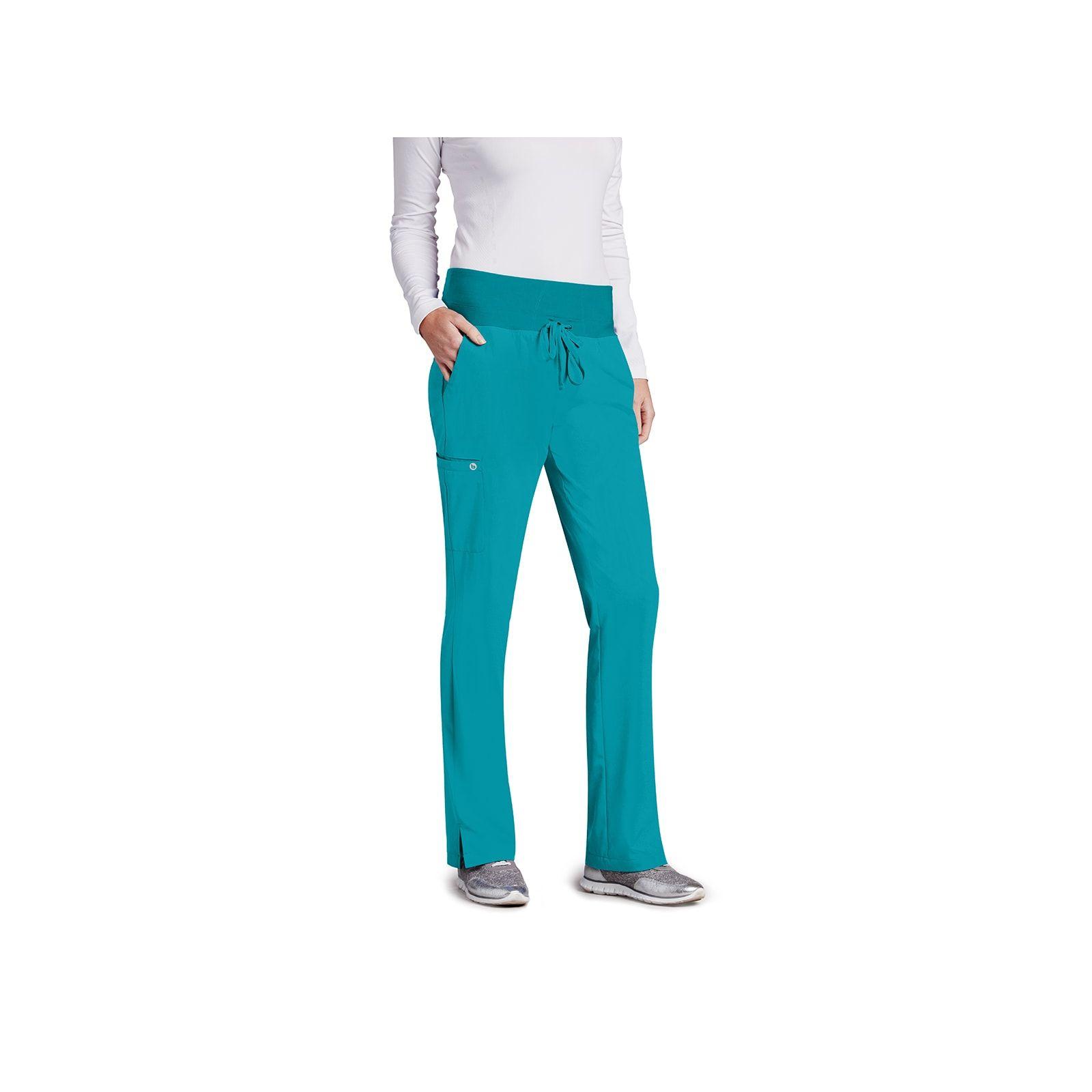 Pantalon médical femme, couleur teal blue vue de face, Barco One (5206)