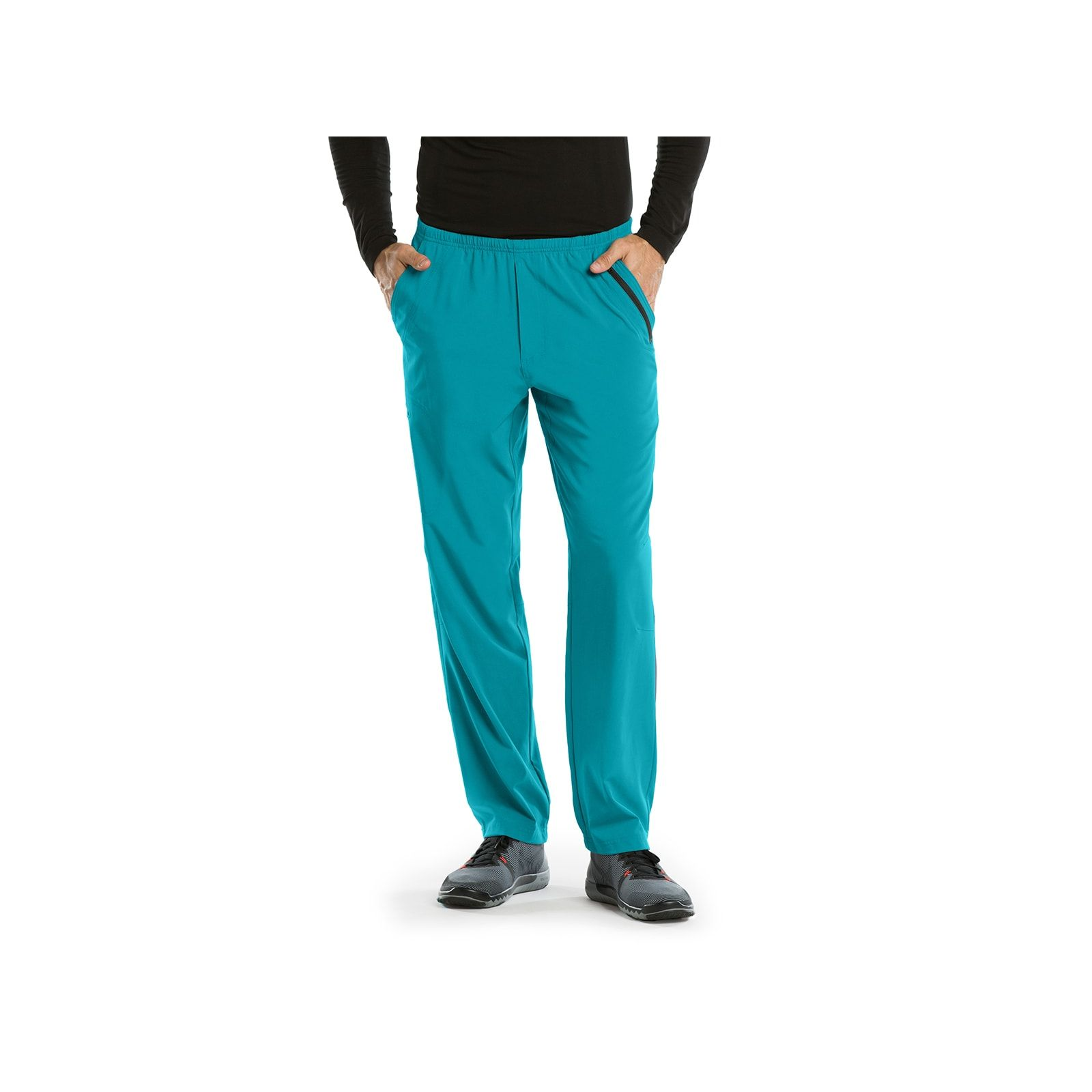 Pantalon médical homme, couleur teal blue vue de face Barco One (0217)
