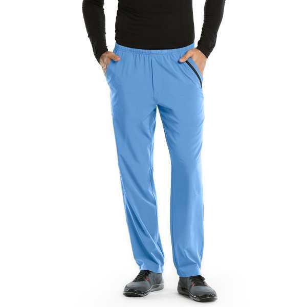 Pantalon médical homme, couleur bleu ciel vue de face Barco One (0217)