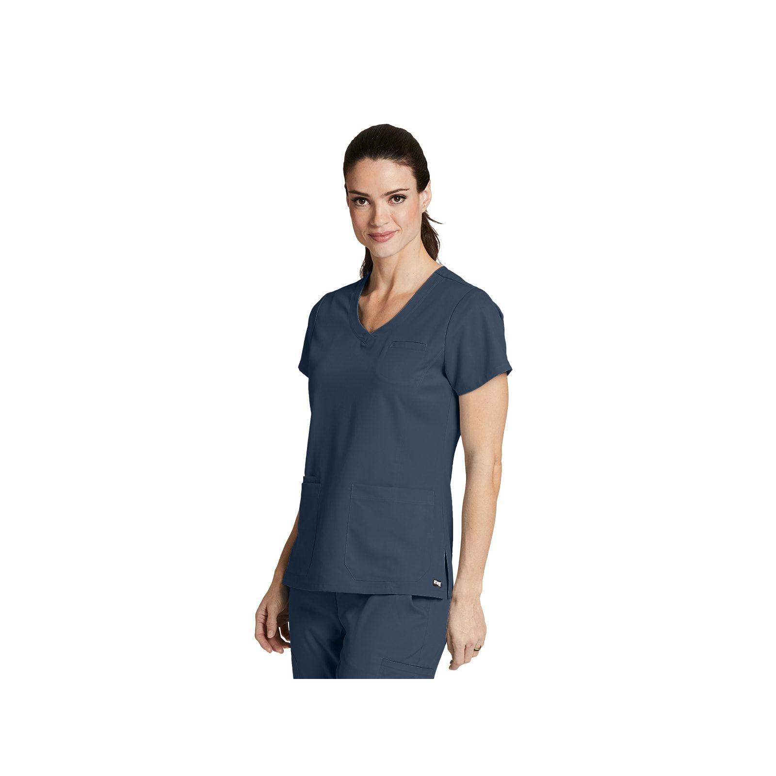 """Tunique médicale femme couleur gris anthracite, vue de face """"Grey's Anatomy"""", Barco (41460-)"""