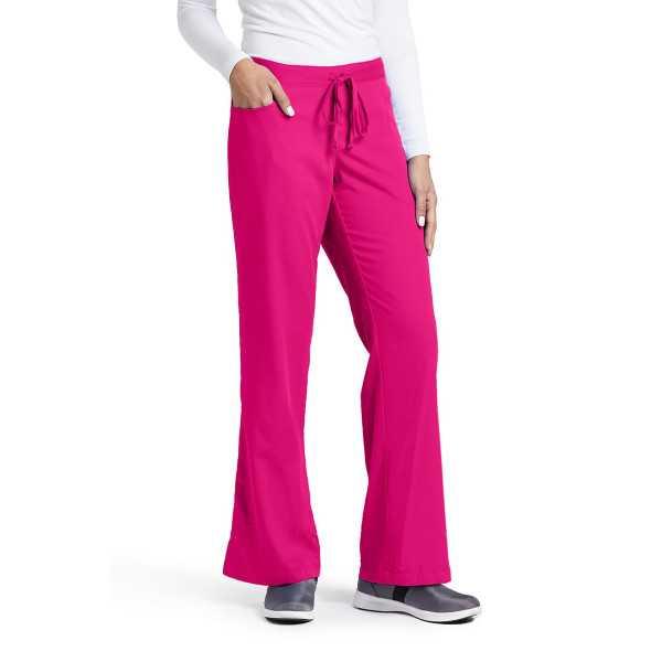 """Pantalon cordon et élastique, couleur framboisine vue de face, Barco, collection """"Grey's Anatomy"""" (4232)."""