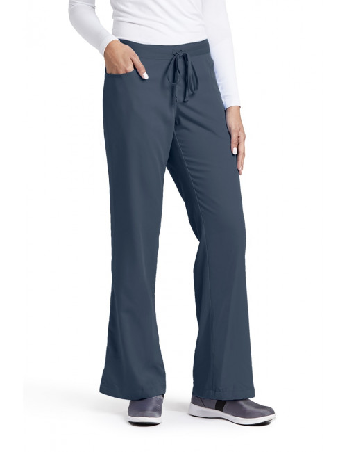 "Pantalon cordon et élastique, couleur gris anthracite vue de face, Barco, collection ""Grey's Anatomy"" (4232)"