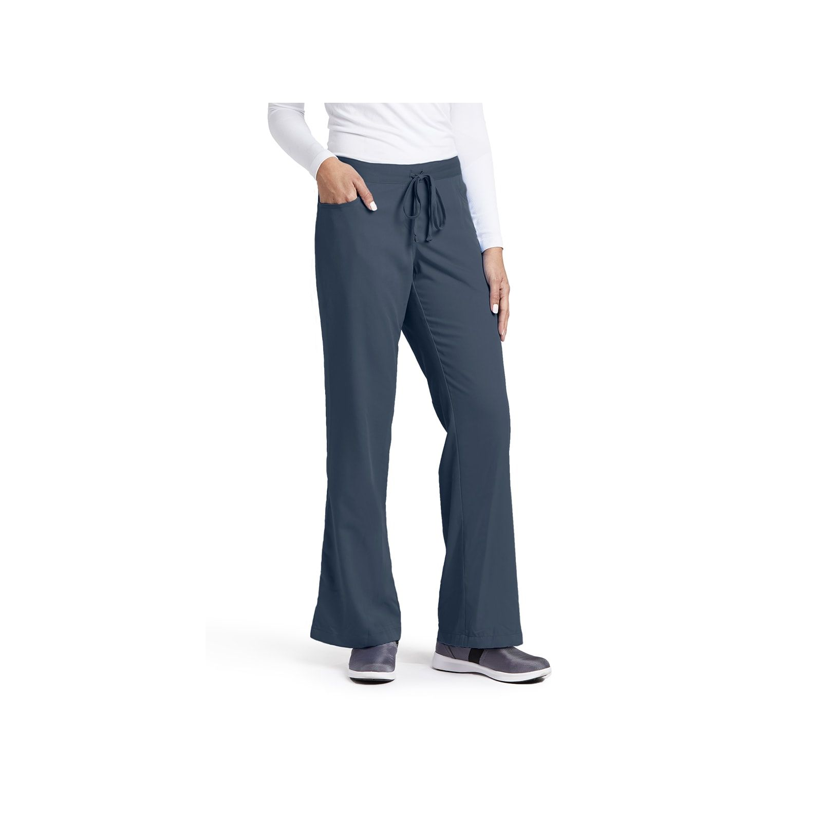 """Pantalon cordon et élastique, couleur gris anthracite vue de face, Barco, collection """"Grey's Anatomy"""" (4232)"""