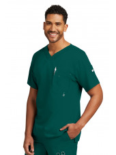 "Col V homme, couleur noir vert chirurgien de face, Collection ""Grey's Anatomy"" (0107-)"