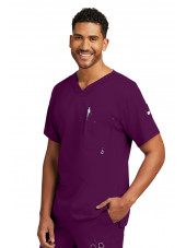 "Col V homme, couleur bordeaux vue de face, Collection ""Grey's Anatomy"" (0107-)"