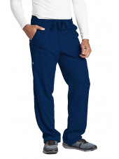 "Pantalon homme, Barco, couleur bleu marine vue de face, collection ""Grey's Anatomy"" (0203-)"