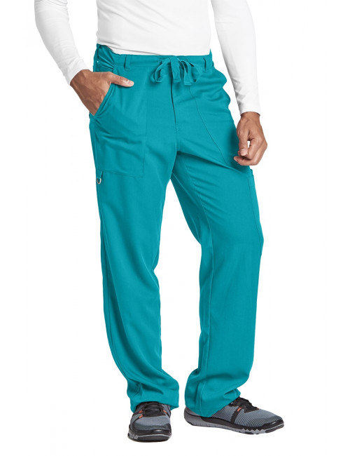 "Pantalon homme, Barco, couleur teal blue vue de face, collection ""Grey's Anatomy"" (0203-)"