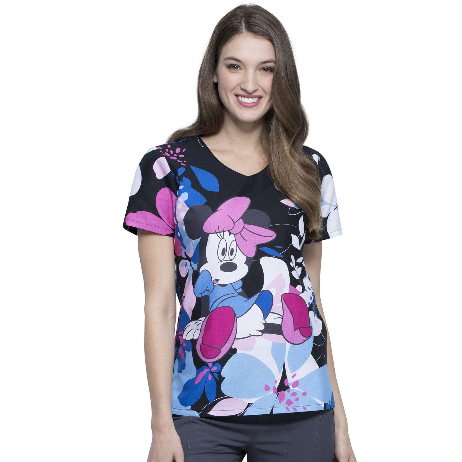 """Blouse médicale imprimée """"Minnie"""", Collection Tooniforms Disney (TF626)"""