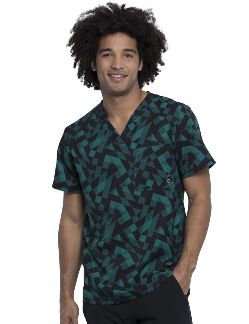 "Blouse médicale imprimée Homme ""Awesome Angles"", Cherokee (CK902)"