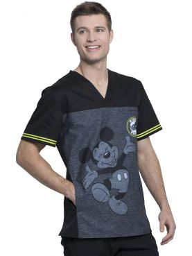 """Mickey Be Yourself"" printed medical gown, Tooniforms Disney Collection (TF707)"