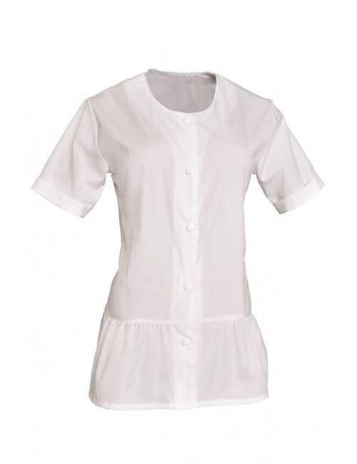 Blouse de travail Femme blanche Col rond Liz, SNV (LIZMCP000)