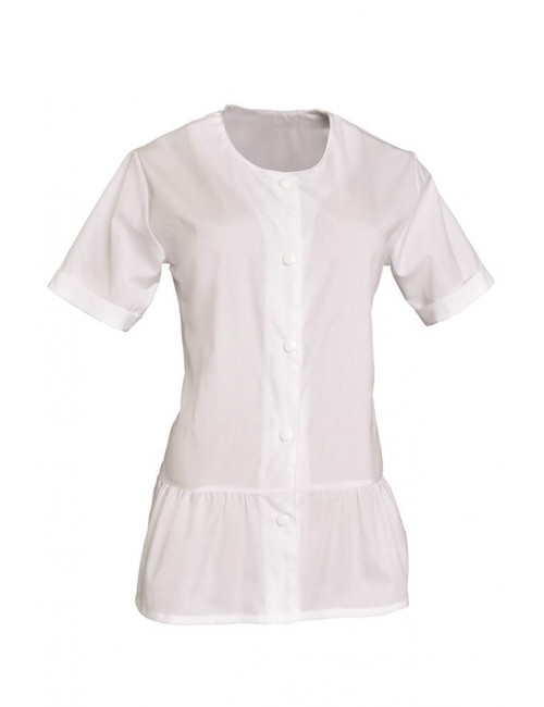 Work coat Woman white Round neck Liz, SNV (LIZMCP000)