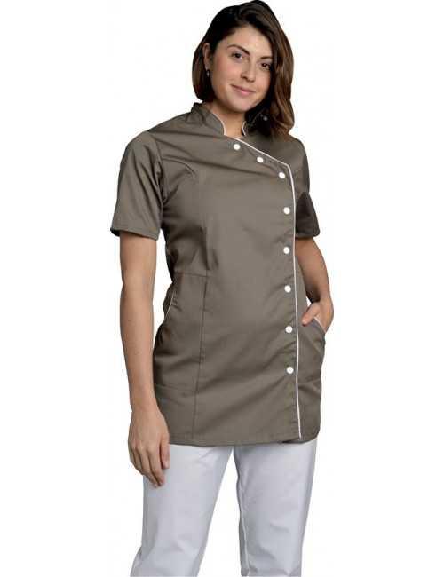 Blouse de travail Femme couleur Col Officier Odile, SNV (ODICC000)