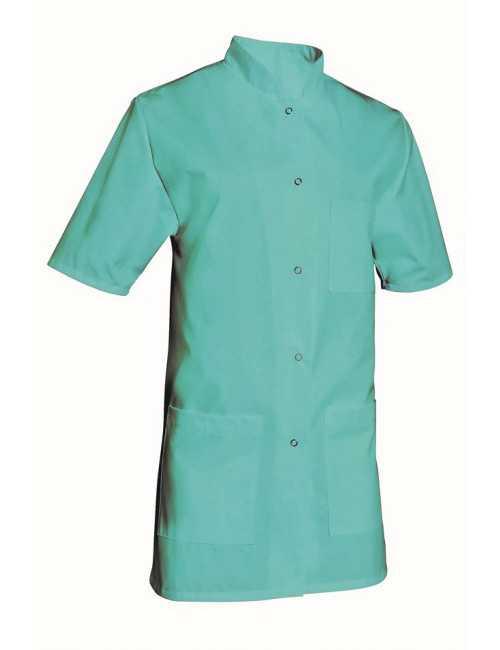 Blouse médicale Femme couleur manches courtes Poly/Coton Denise, SNV (DENCP020) couleur vert aqua