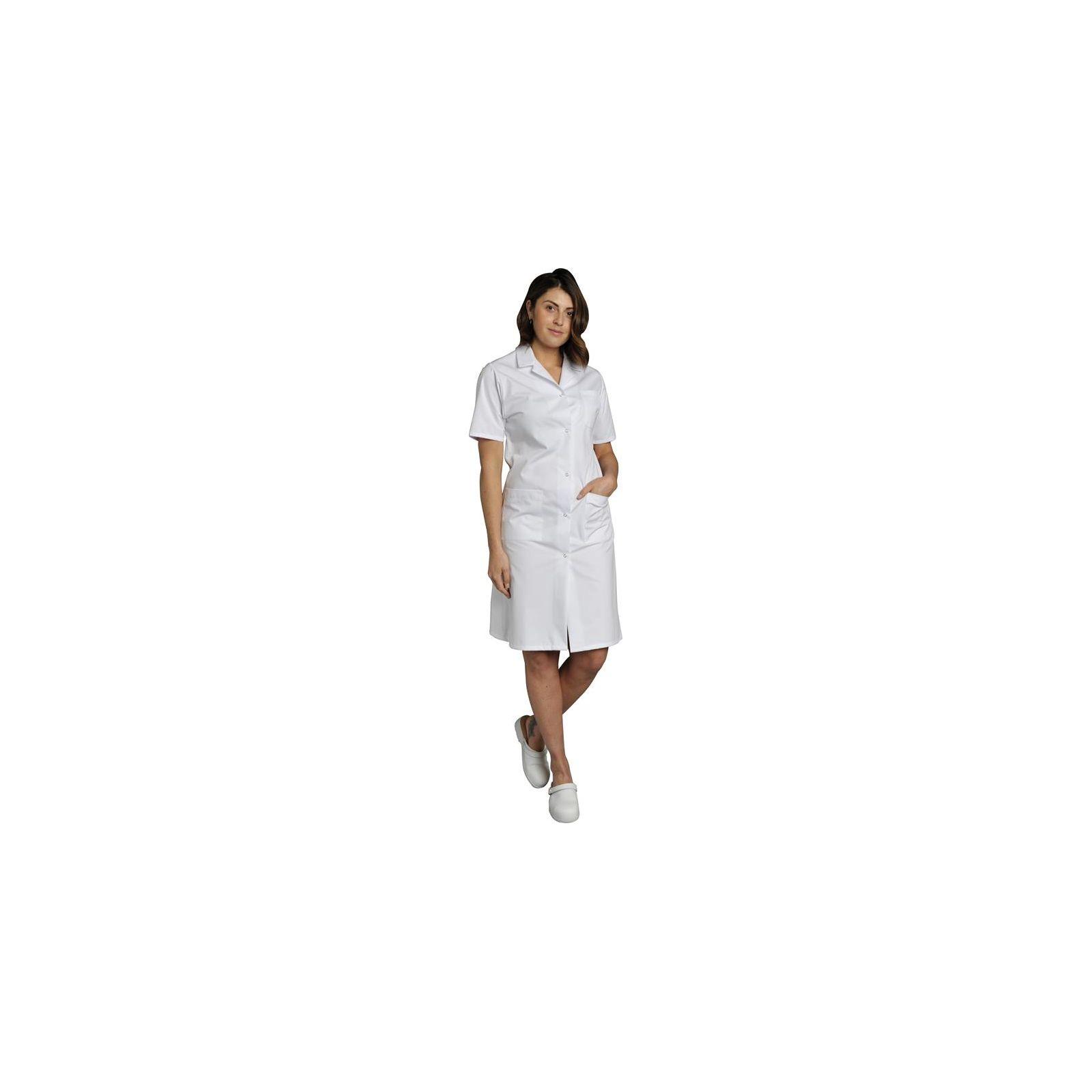 Blouse médicale Femme blanche manches courtes Poly/Coton Madona, SNV (MADCP00000) vue modèle
