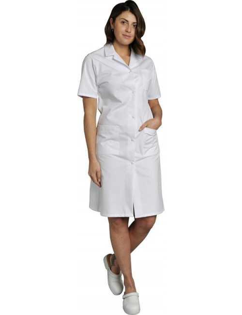 Blouse médicale Femme blanche manches courtes Coton Madona, SNV (MADCP00200)