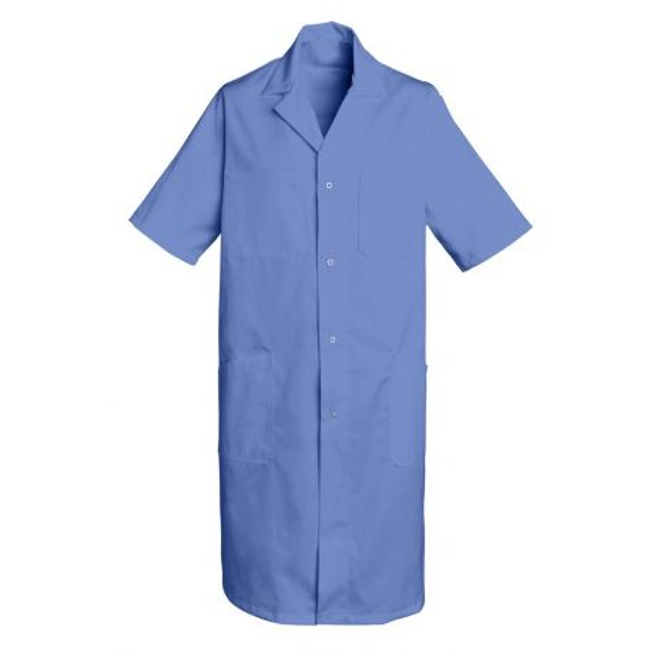 Blouse médicale Longue Homme Bleu Poly/Coton Oscar, SNV (OSCARMC0) couleur bleu