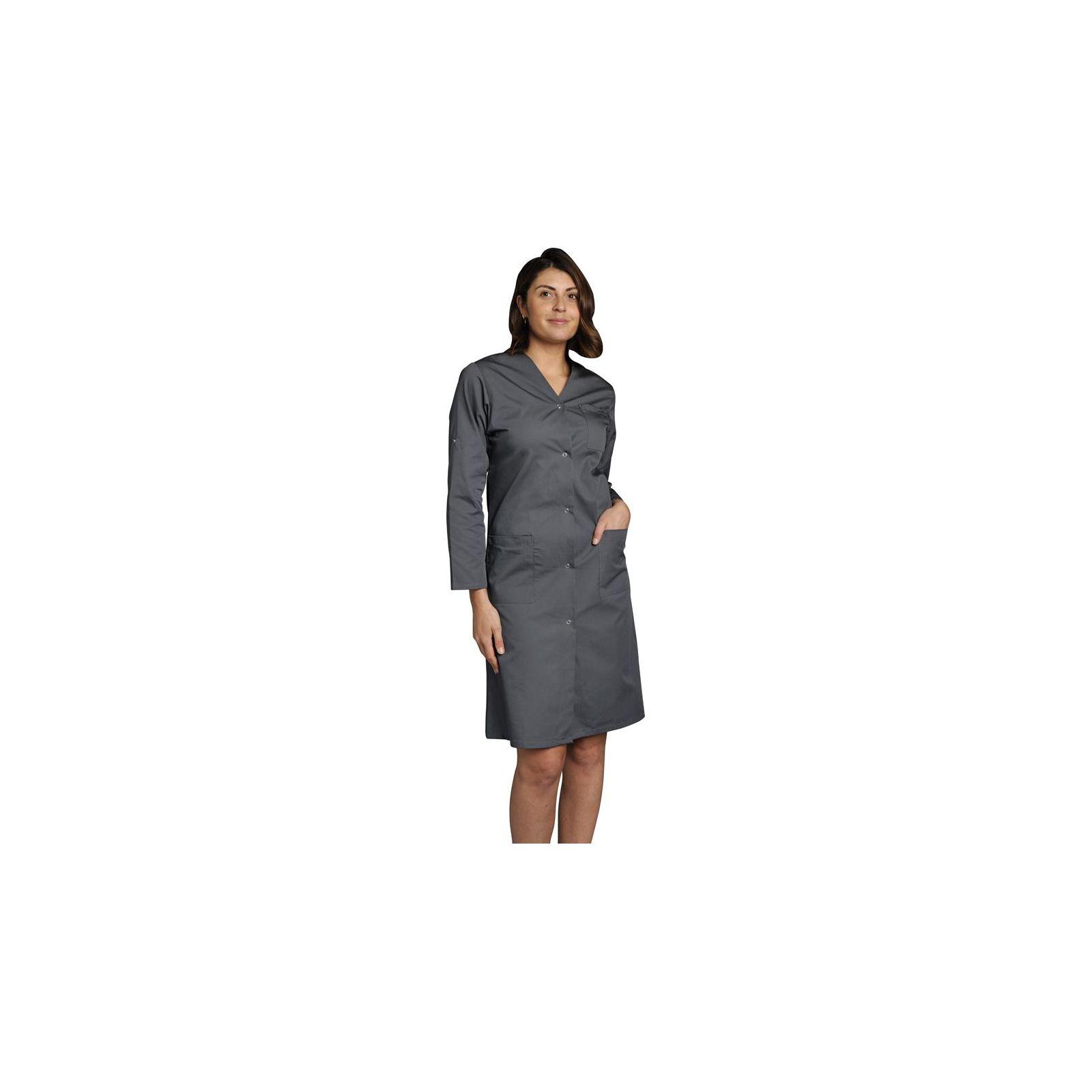 Blouse médicale Femme couleur manches longues Lisa, SNV (LISAMR00) couleur gris vue modèle