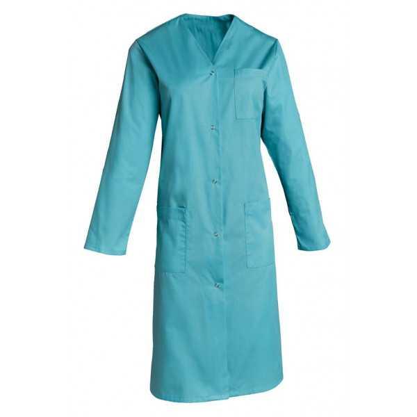 Blouse médicale Femme couleur manches longues Lisa, SNV (LISAMR00) couleur bleu turquoise