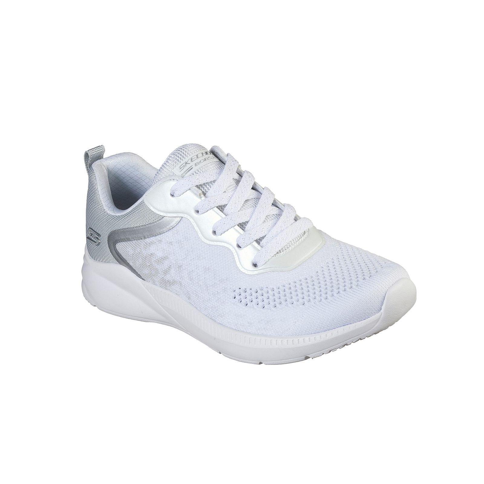 Baskets Femme Skechers Bobs Sport Ariana (117010) couleur blanche vue ensemble