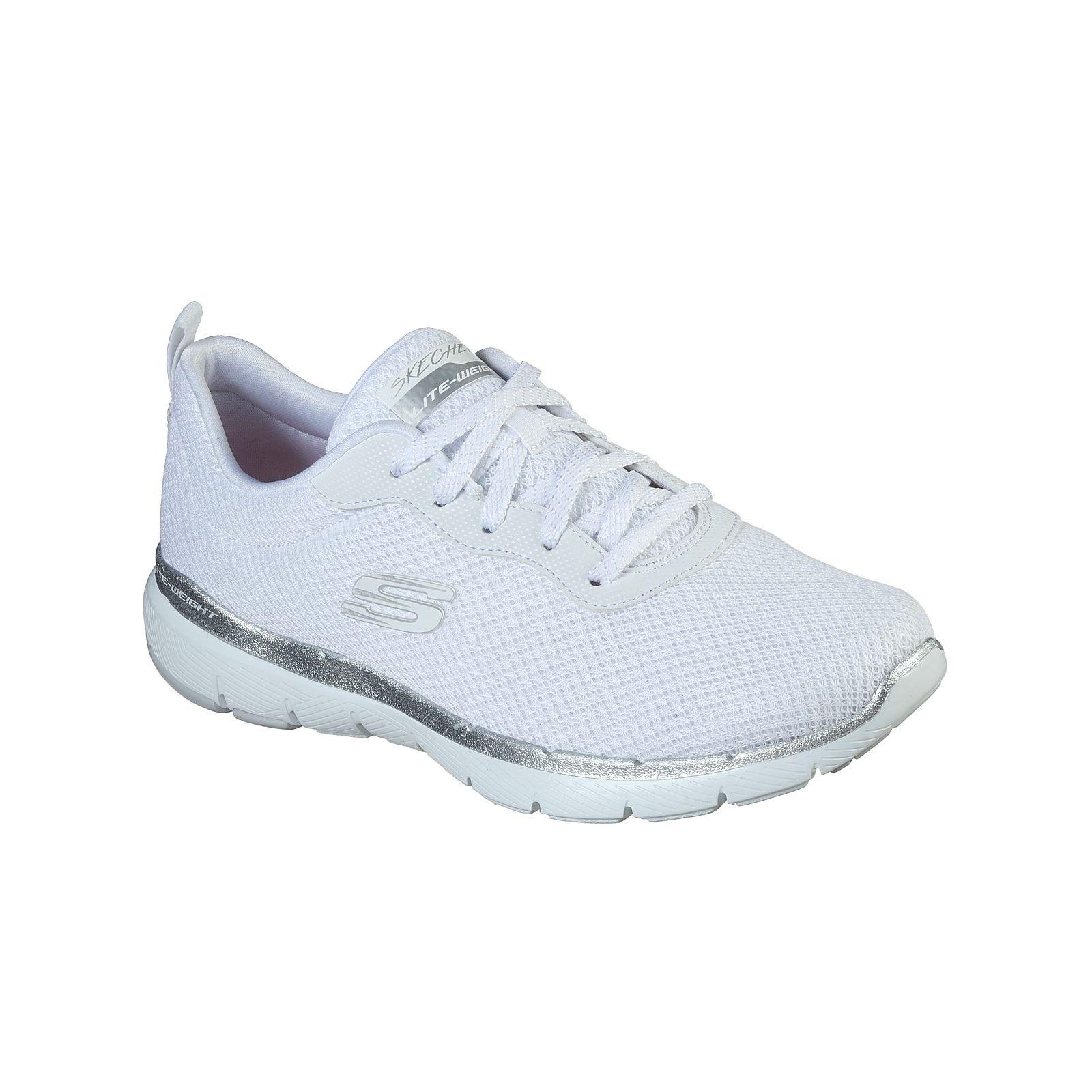 Baskets Femme Skechers Flex Appeal Blanches (13070) couleur blanche vue d'ensemble