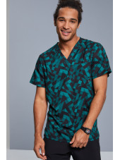 "Blouse médicale imprimée Homme ""Awesome Angles"", Cherokee (CK902) vue ambiance"