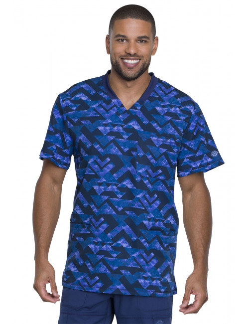 "Men's Medical Blouse Printed ""Make a point"", ""Dynamix"" Collection (DK607)"
