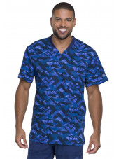 "Blouse Médicale Homme Imprimé ""Make a point"", Collection ""Dynamix"" (DK607) vue face"