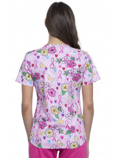 "Blouse médicale imprimée ""Hope Is Beautiful"", Collection Tooniforms Disney (TF652), vue dos"