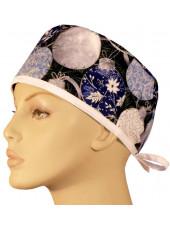 "Calot médical ""Blue Holiday Ornaments"" (210-8672)"