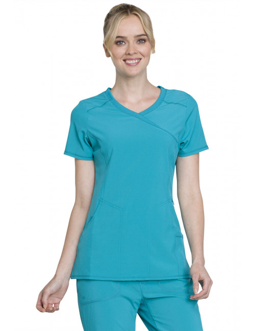 "Cache-cœur femme antimicrobien, Cherokee collection ""Infinity"" (2625A), couleur teal, vue face"