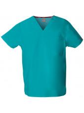 """Blouse médicale Homme, Dickies, poche cœur, Collection """"EDS signature"""" (83706), couleur teal blue, vue produit"""