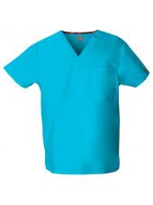 """Blouse médicale Homme, Dickies, poche cœur, Collection """"EDS signature"""" (83706), couleur bleu turquoise, vue produit"""