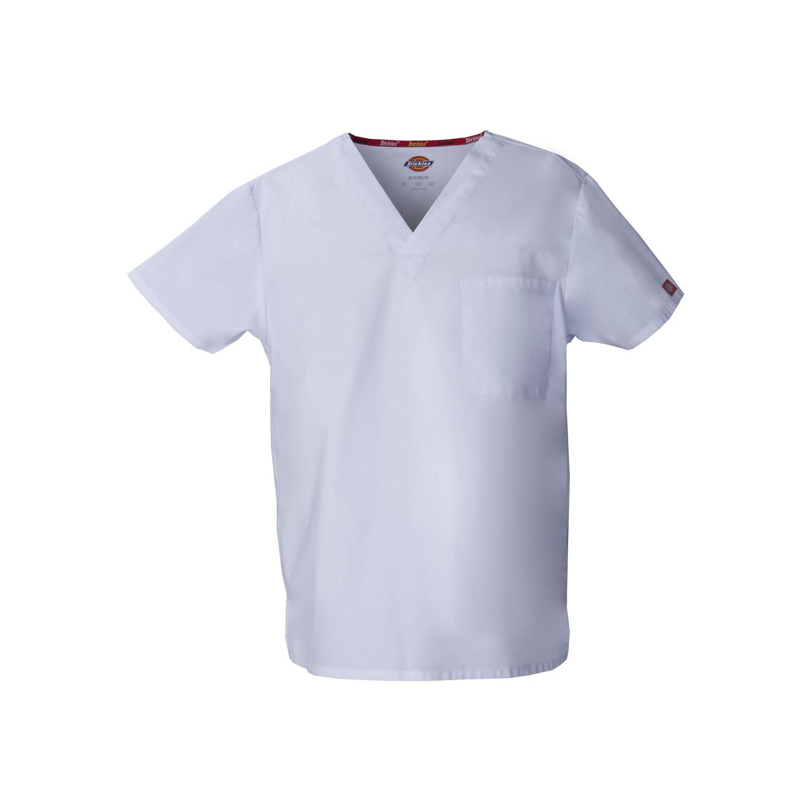 """Blouse médicale Homme, Dickies, poche cœur, Collection """"EDS signature"""" (83706), couleur blanc, vue produit"""